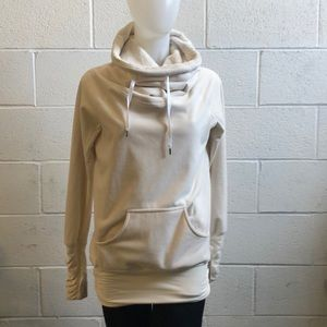 Lululemon ivory don't hurry be happy pullover sz 4